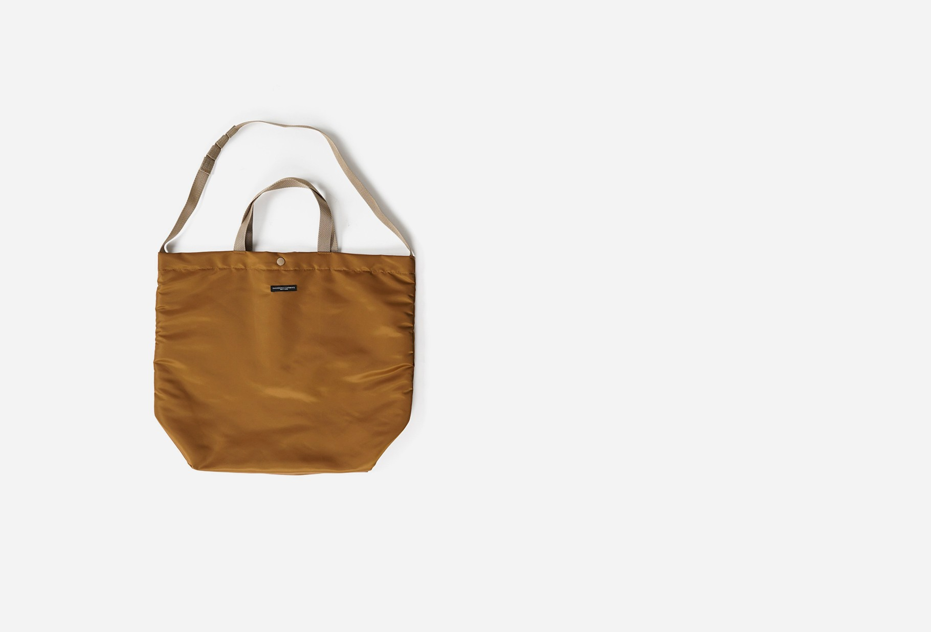 ENGINEERED GARMENTS / Carry all tote satin nylon Coyote flight