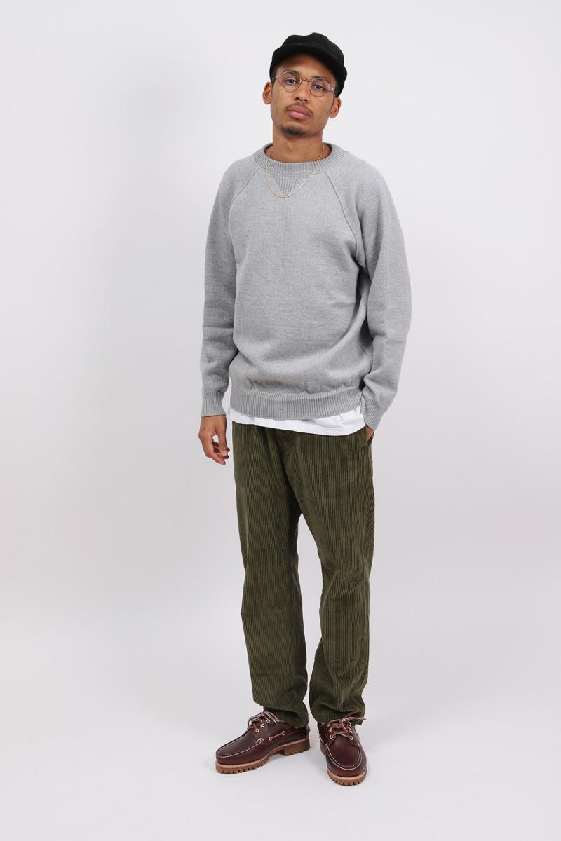 Sweatshirt laine merinos Gris chine