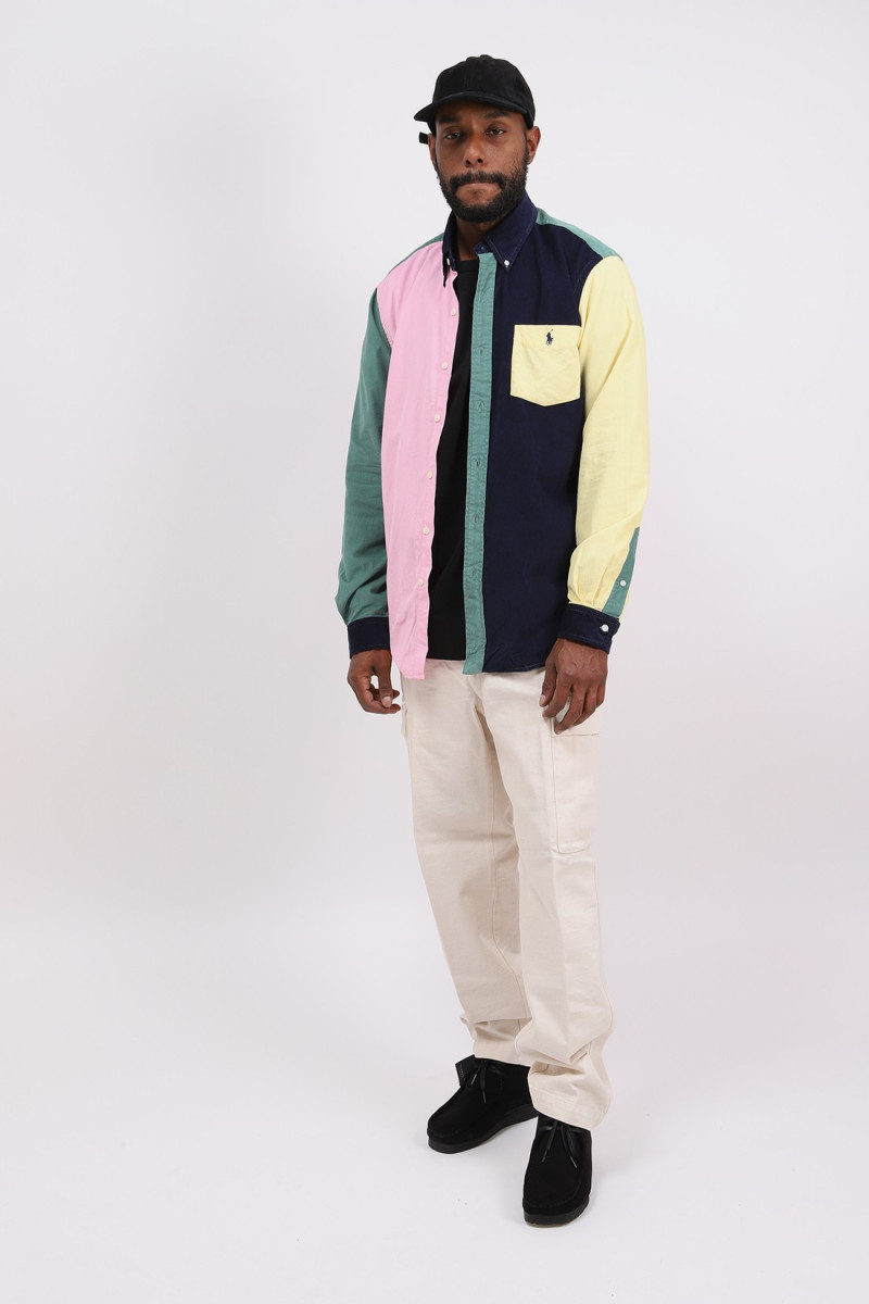 Custom fit fine cord shirt Multi fun