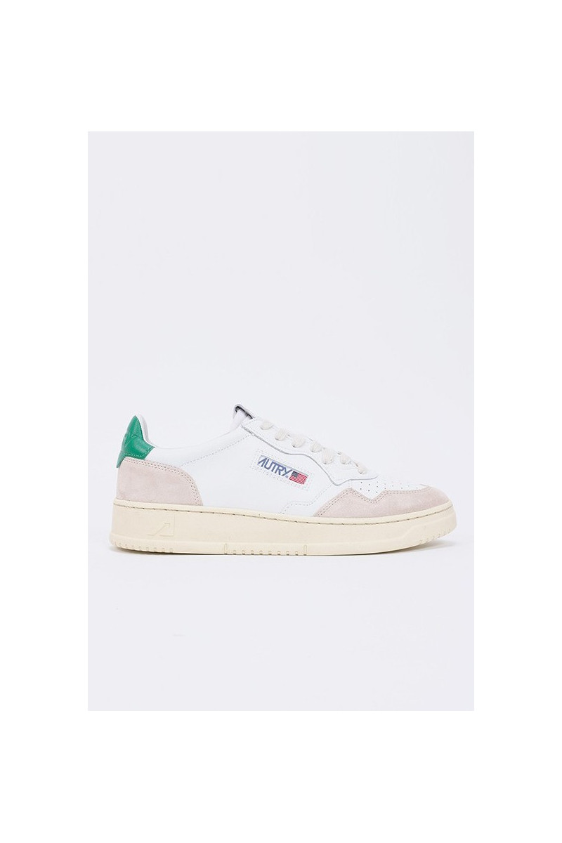 Autry ls23 Leat/suede wht/green