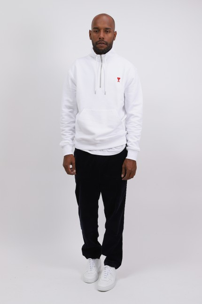 Sweatshirt zippe ami de coeur Blanc