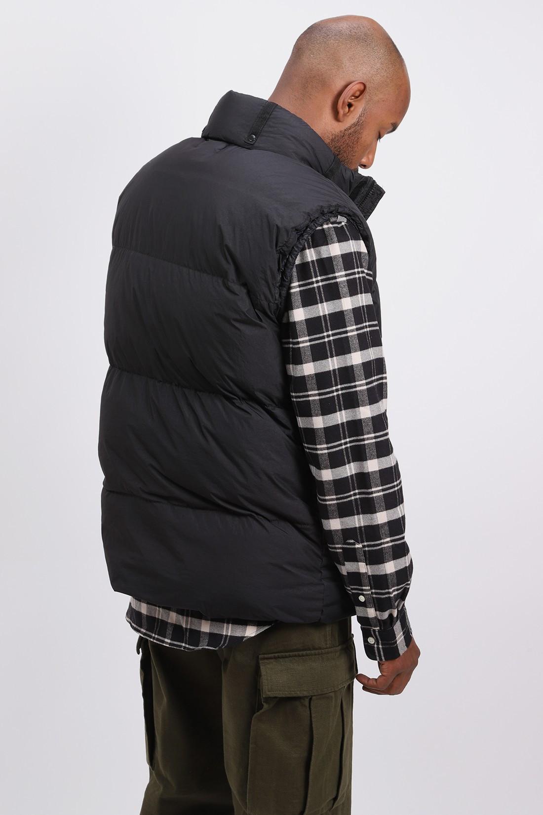 STONE ISLAND / G0123 sleeveless down jacket V0029 nero