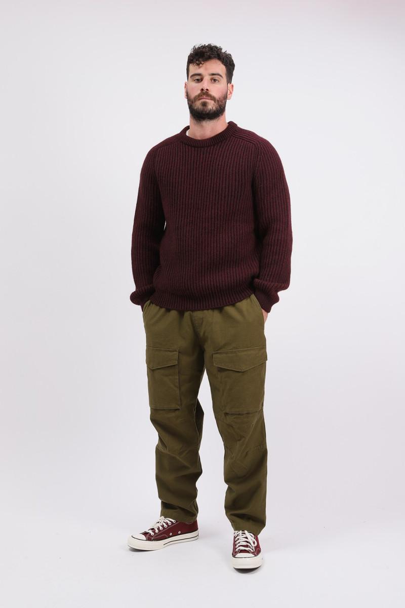 Roni crew sweater knit Plum pie