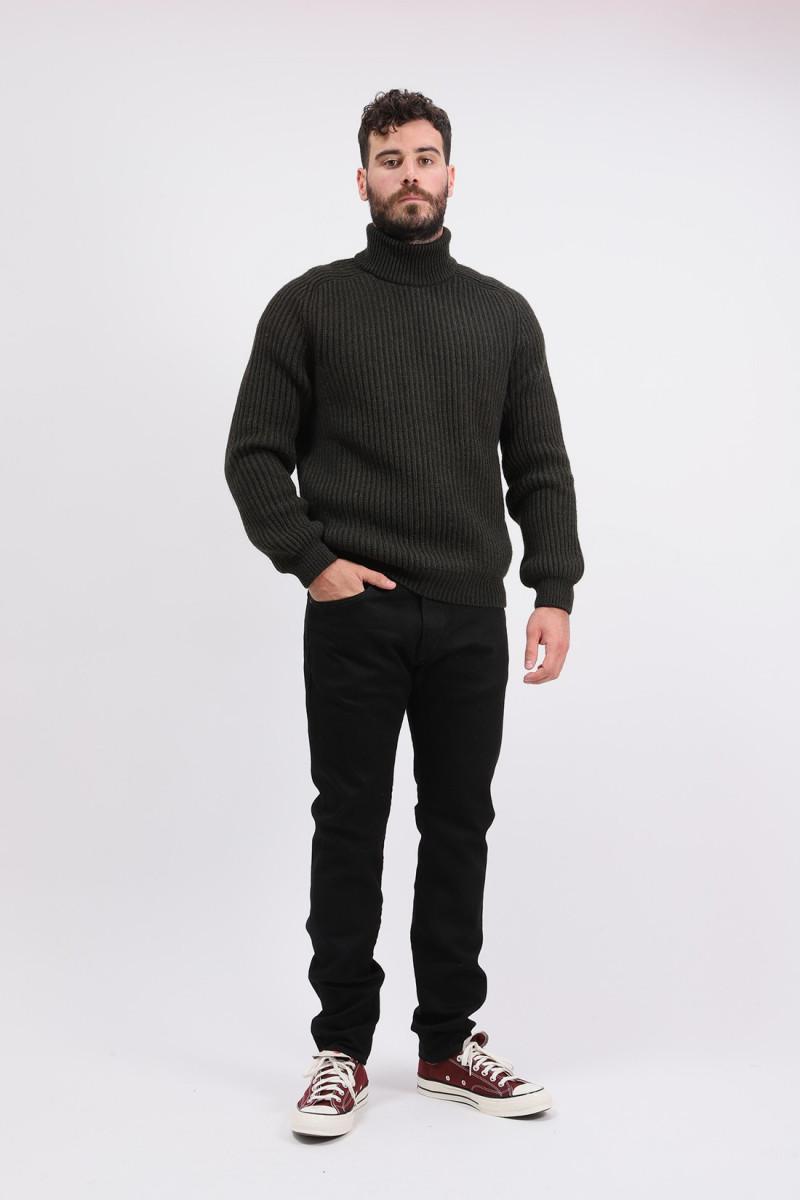 Roni high collar sweater knit Uniform green