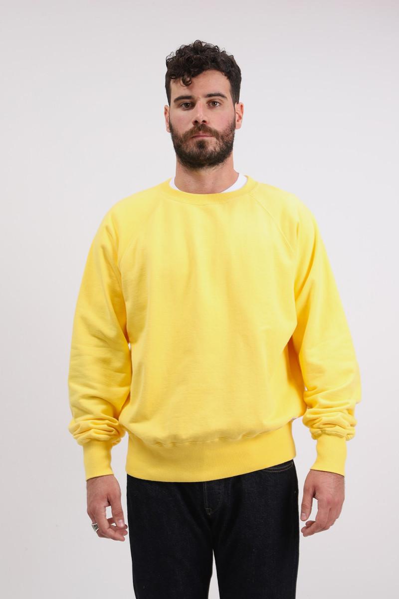 Raglan sleeve crewneck maruva Yellow rinsed