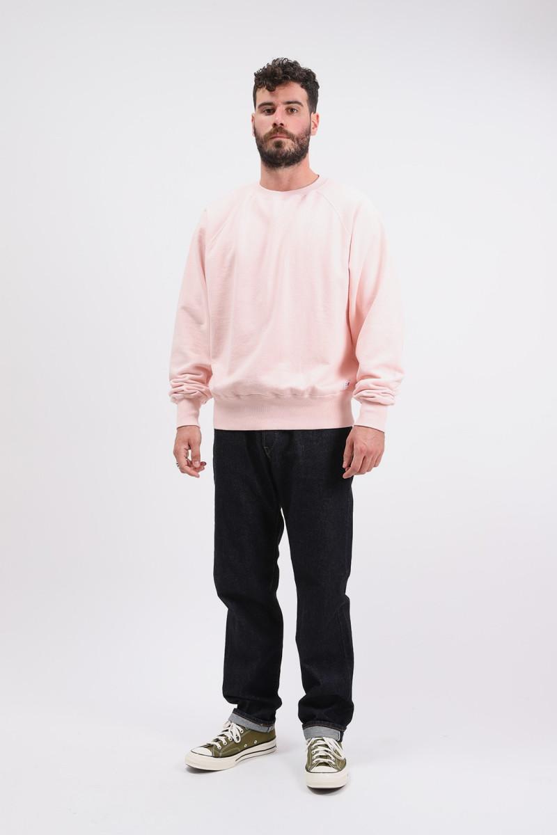 Raglan sleeve crewneck maruva Pink rinsed