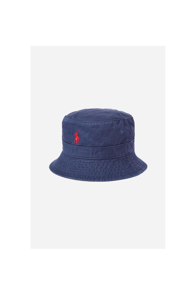 Loft bucket hat cotton chino Blue