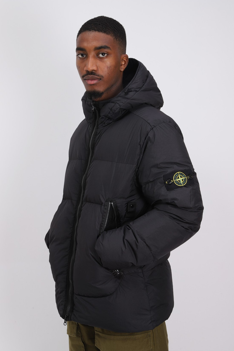 40123 real down jacket v0029 Nero