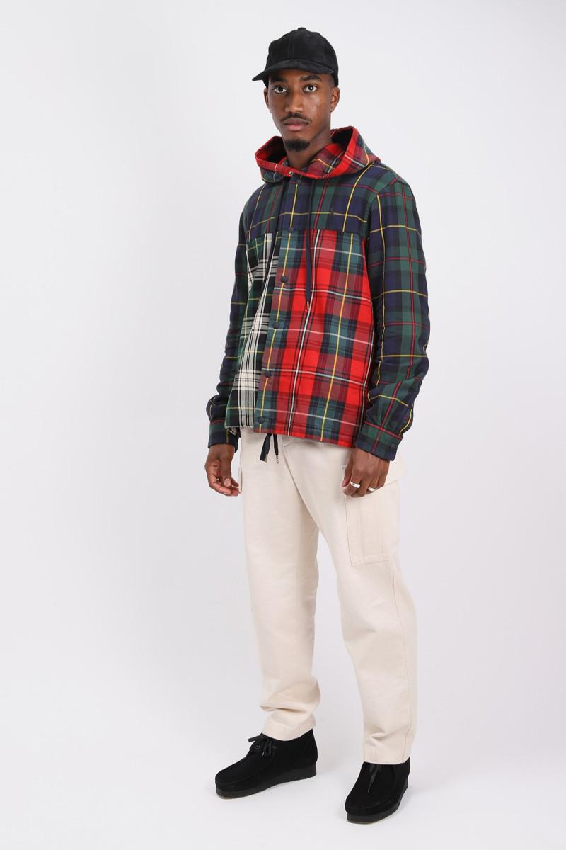 Classic fit hooded shirt Tartan multi