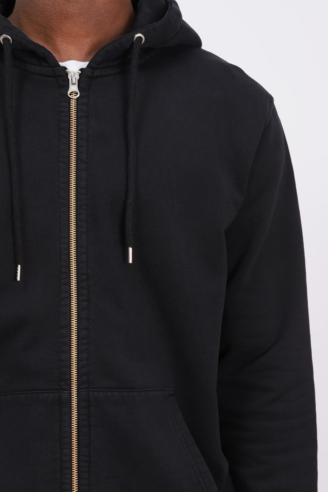 COLORFUL STANDARD / Classic organic zip hood Deep black