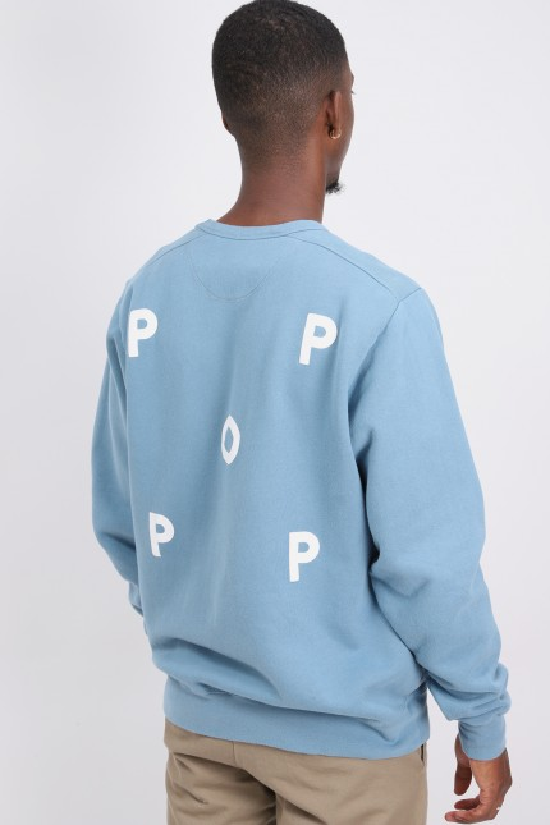 Pop logo crewneck Blue shadow