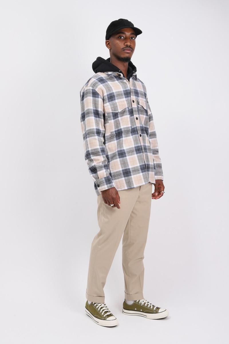 Big shirt ls heavy flannel Ebony/silver grey