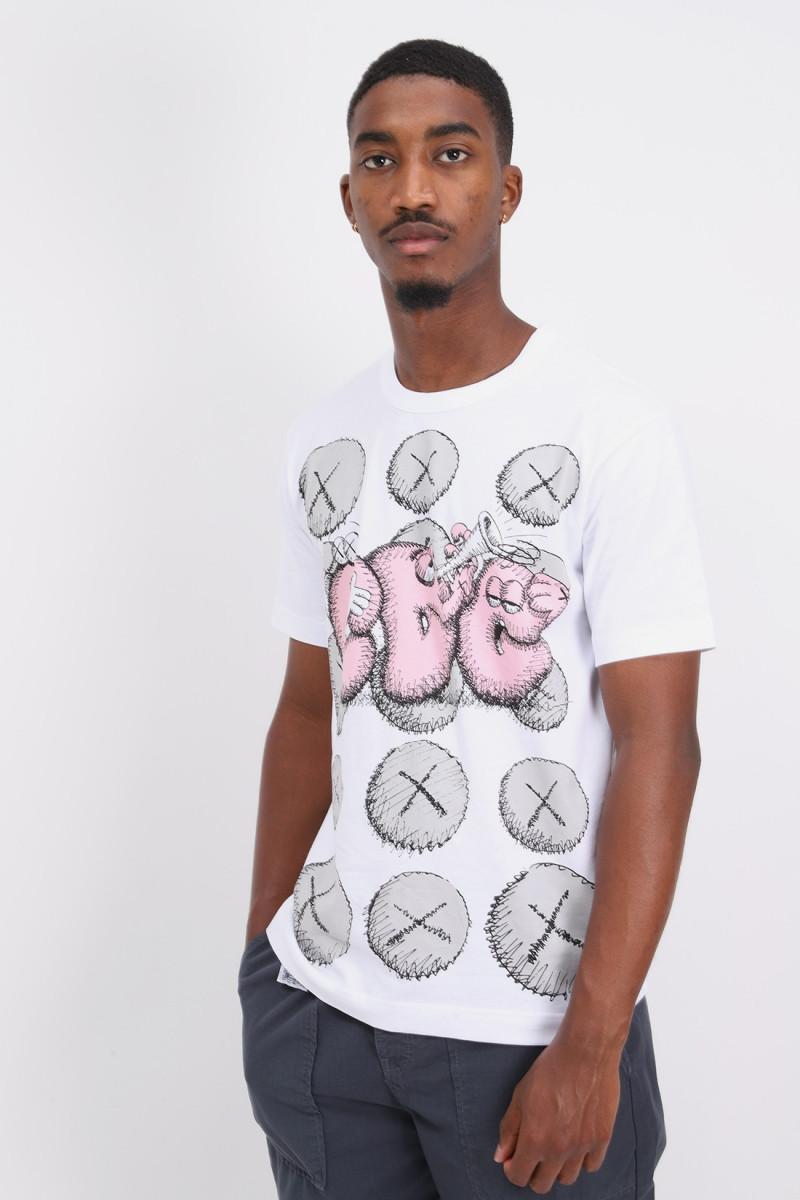 Cdg shirt x kaws t-shirt White/print 2