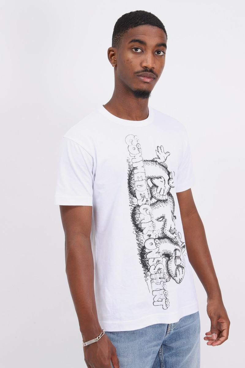 Cdg shirt x kaws t-shirt White/print 3