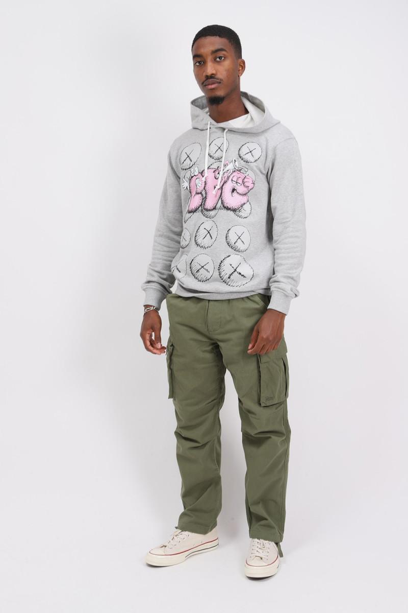 Cdg shirt x kaws hoodie Grey/print 2