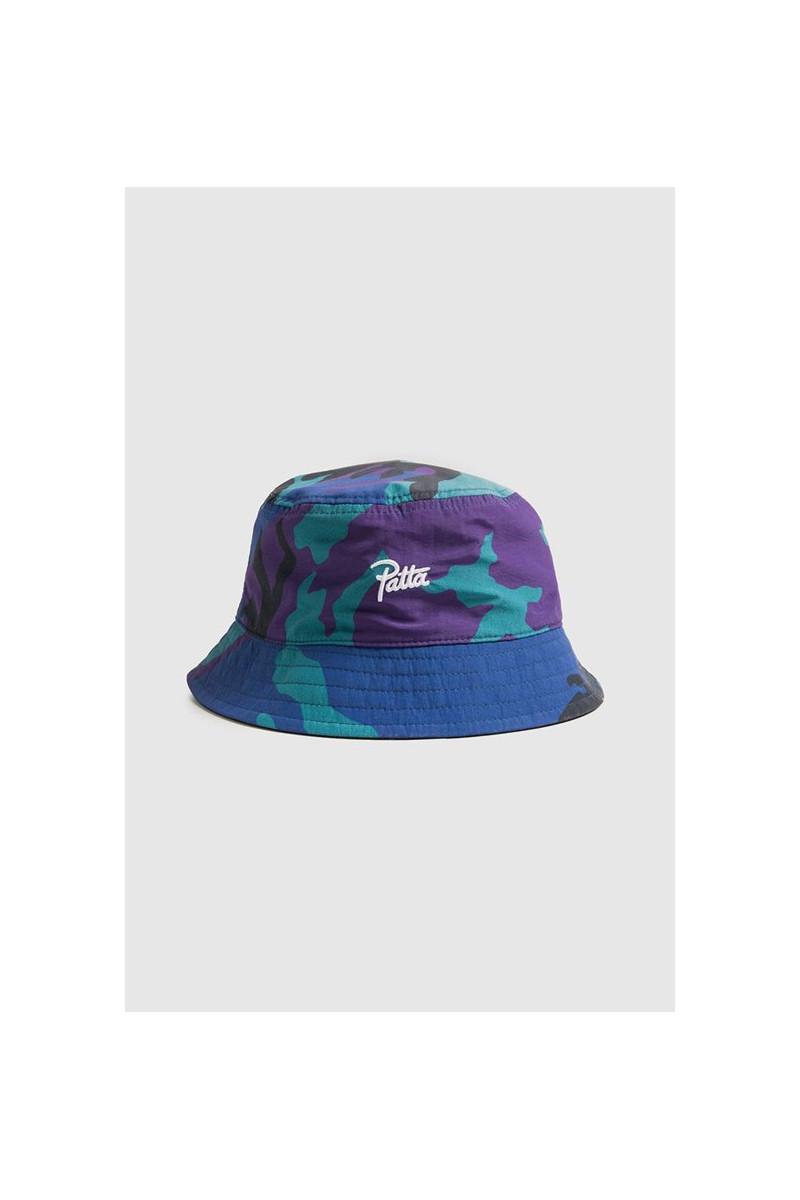 Patta reversible bucket hat Midnight camo/black