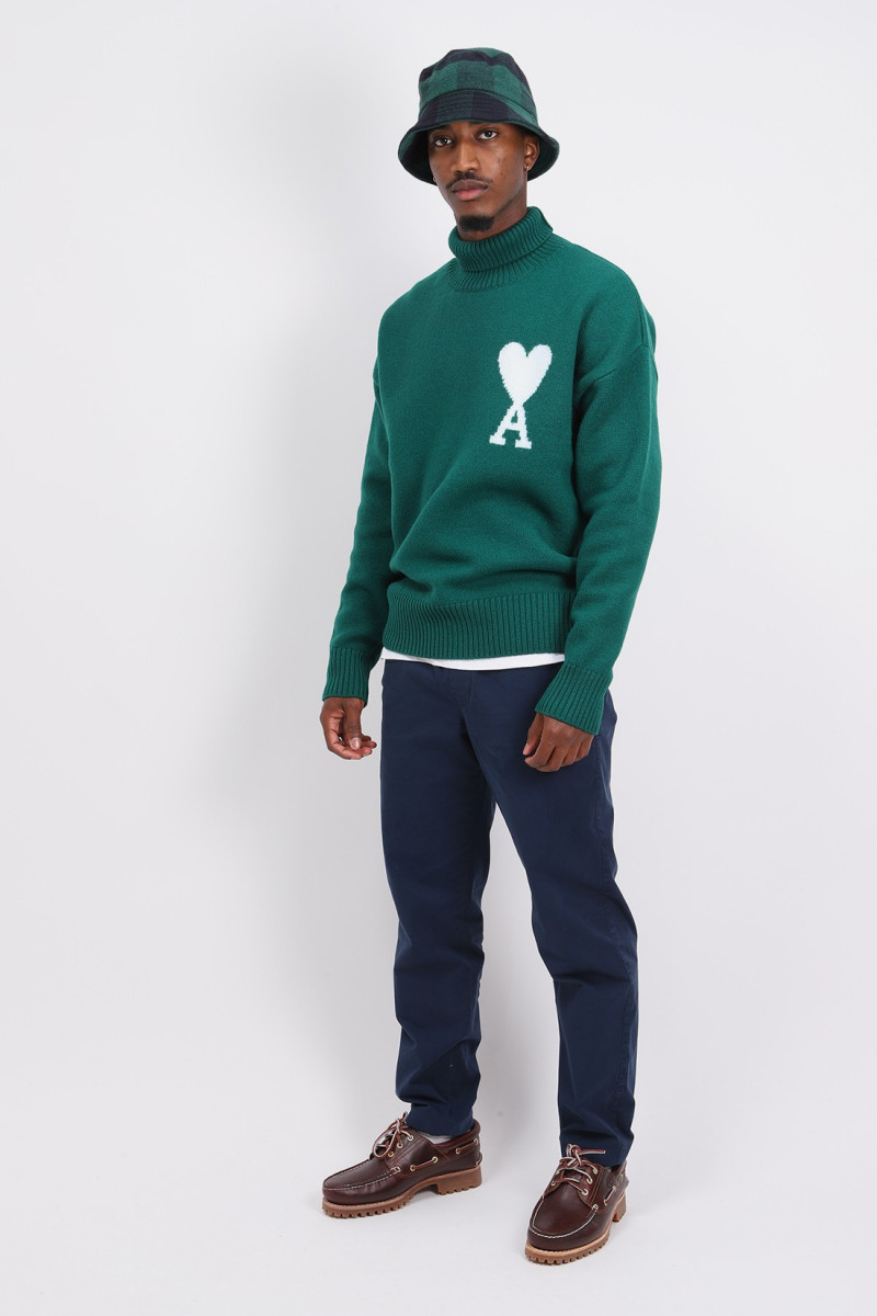 Col roule oversize Green