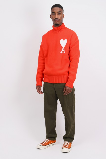 Col roule oversize Red
