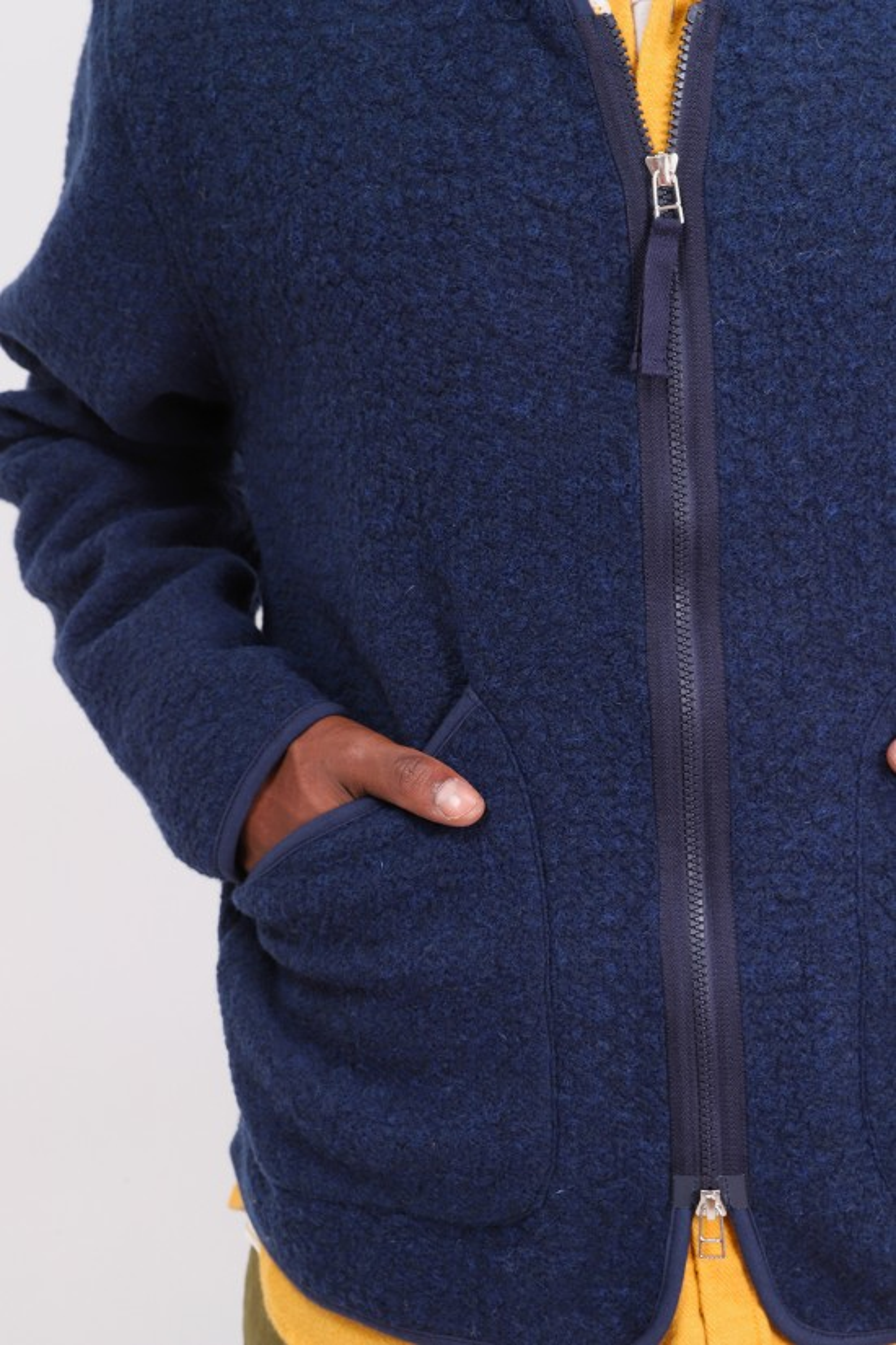 UNIVERSAL WORKS / Zip liner jacket Navy