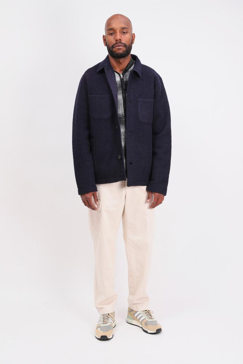 Lumber jacket wool Navy