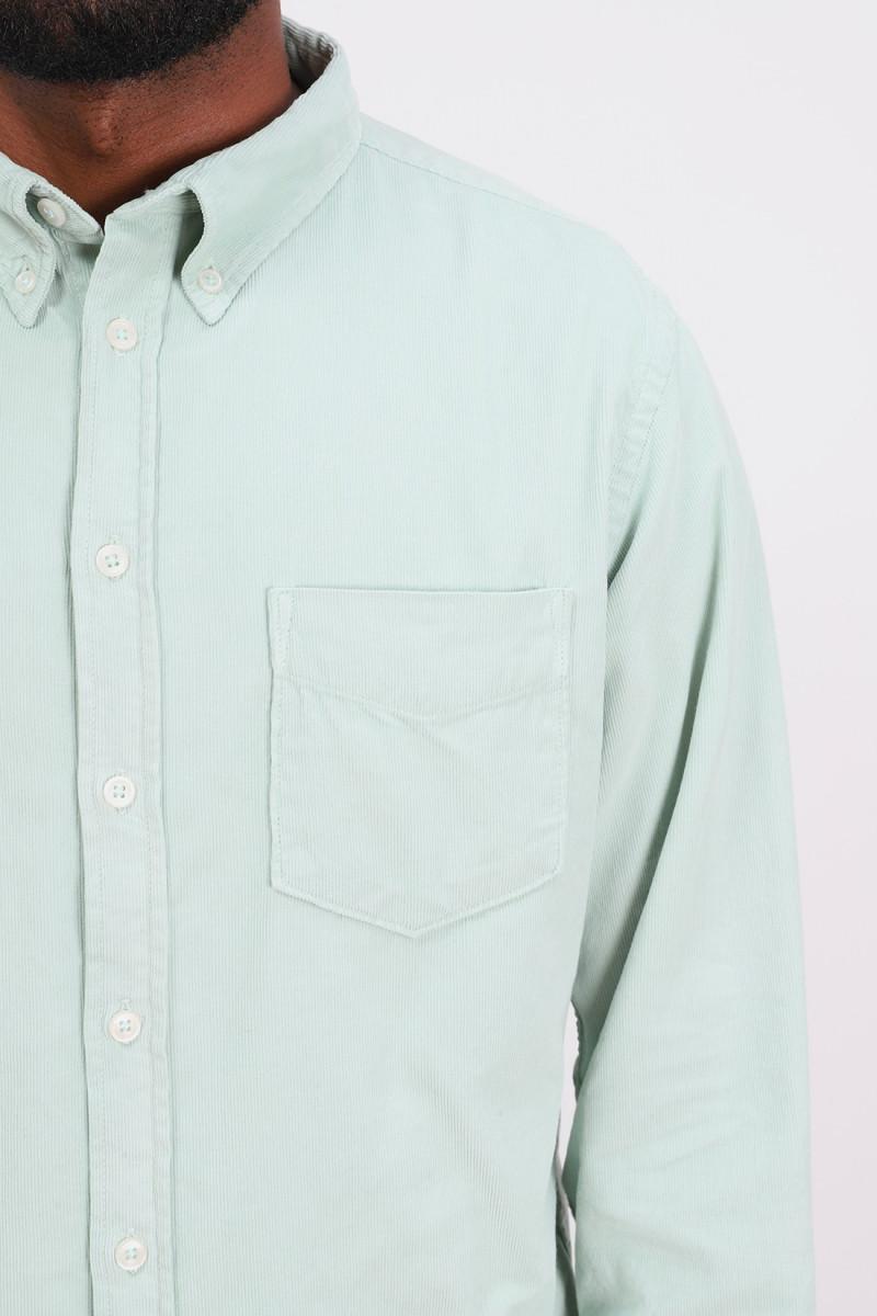 Everyday shirt fine corduroy Cool green