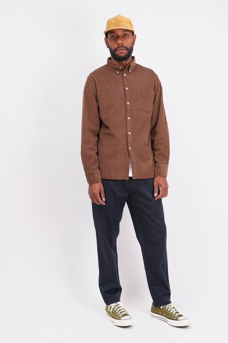 Everyday shirt fine corduroy Brown