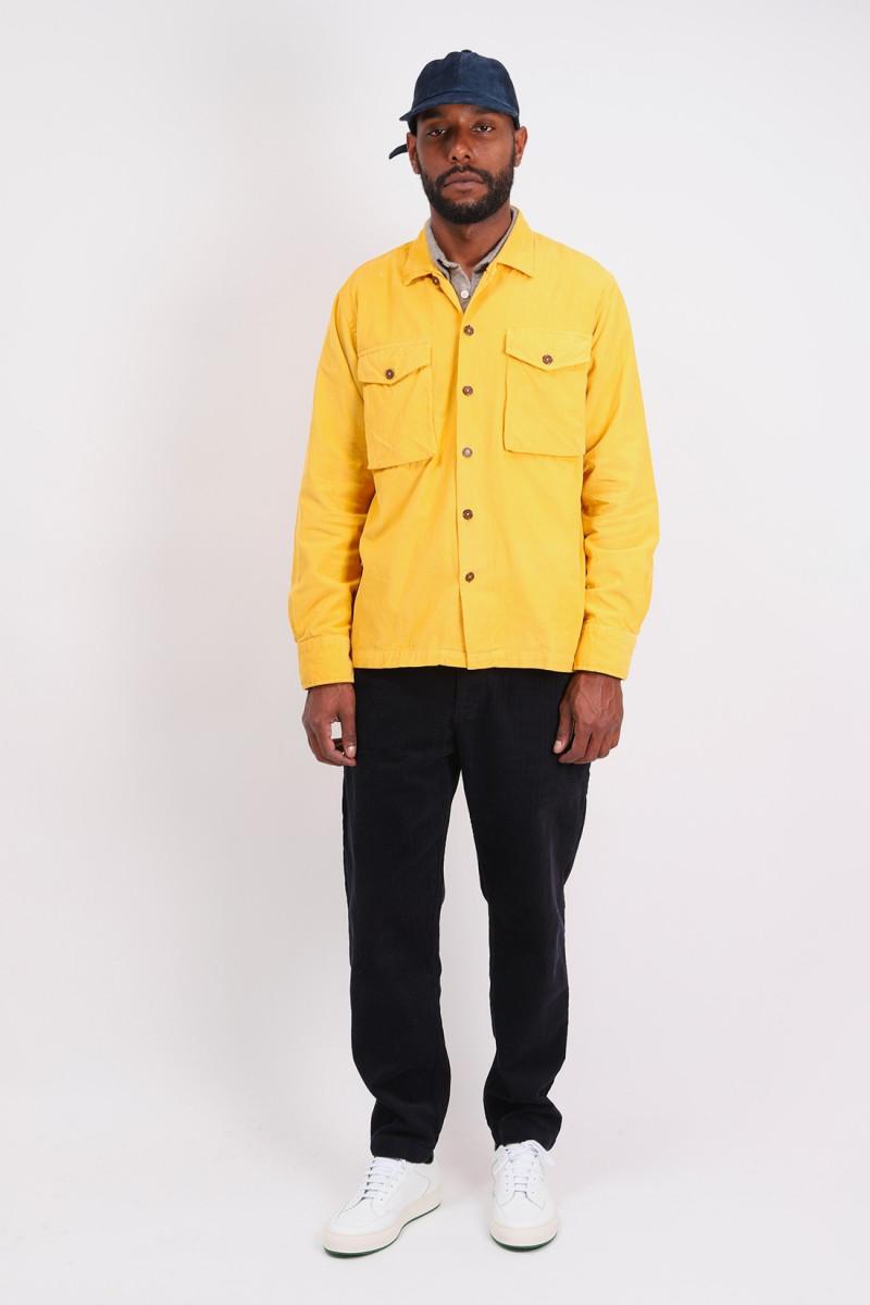 Trek shirt fine corduroy Mustard