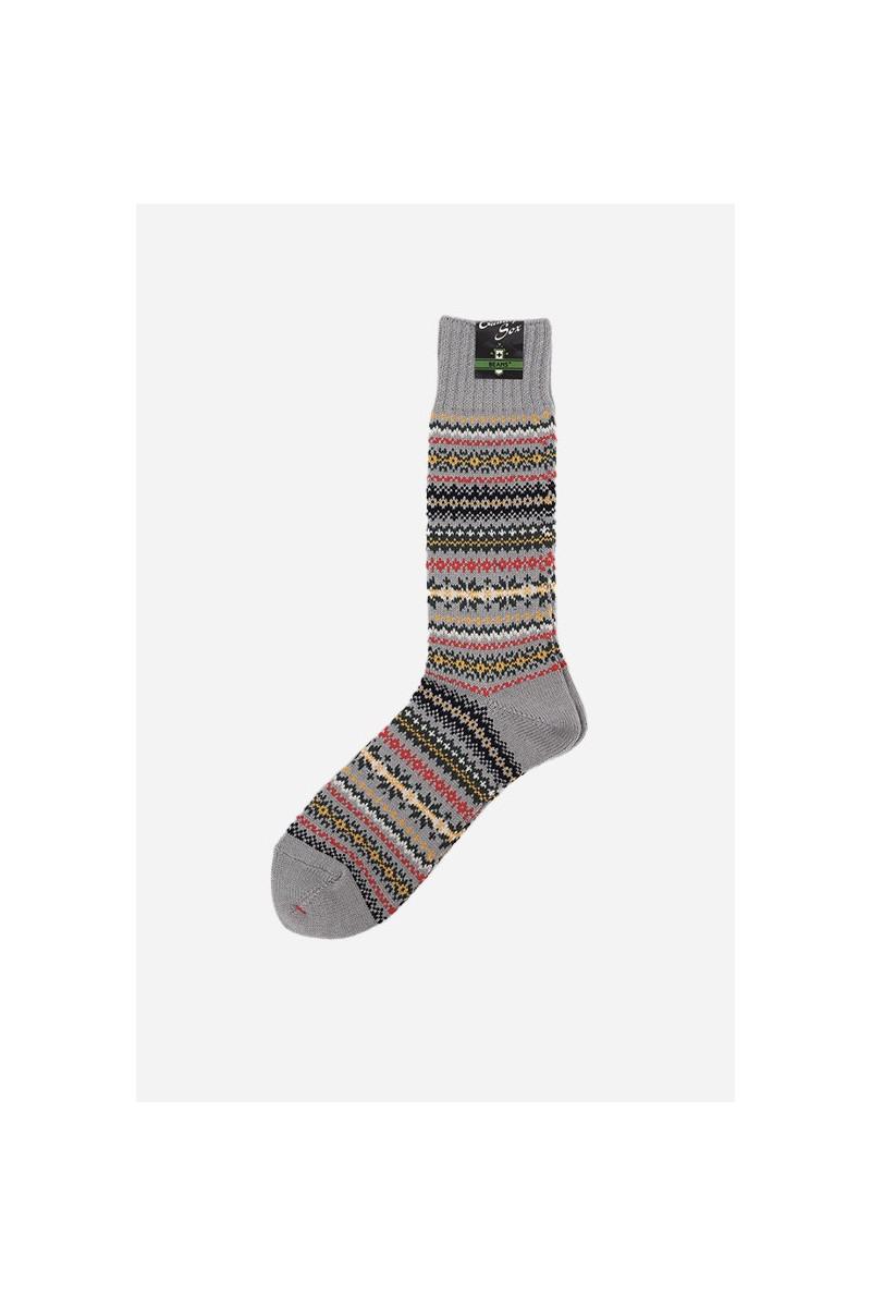 Fair isle socks Grey base