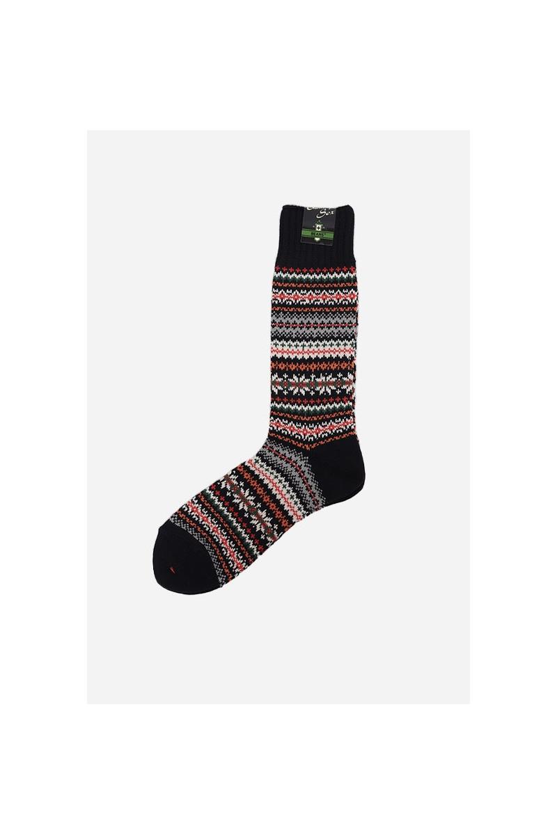 Fair isle socks Navy base
