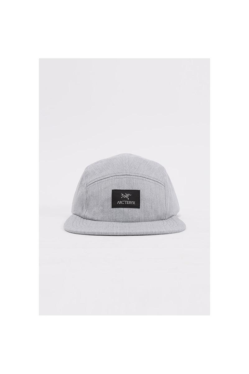5 panel label cap Grey heather