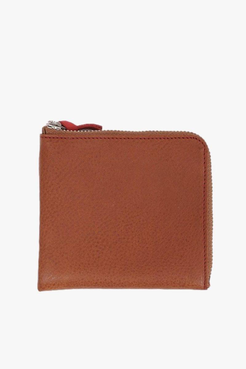 Double zip wallet Brown red