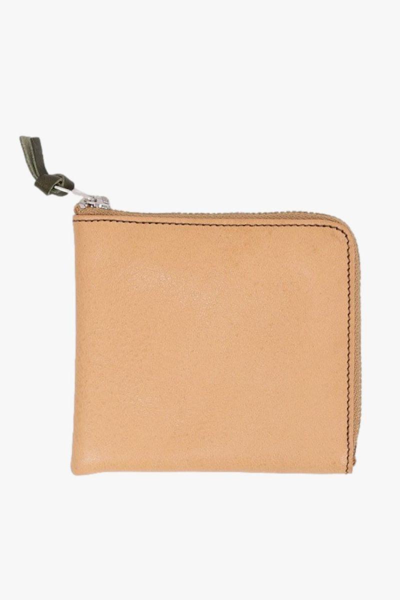 Double zip wallet Tan orange