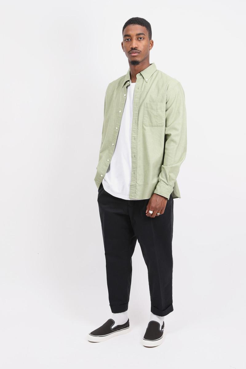 B.d. flannel solid shirt Light green