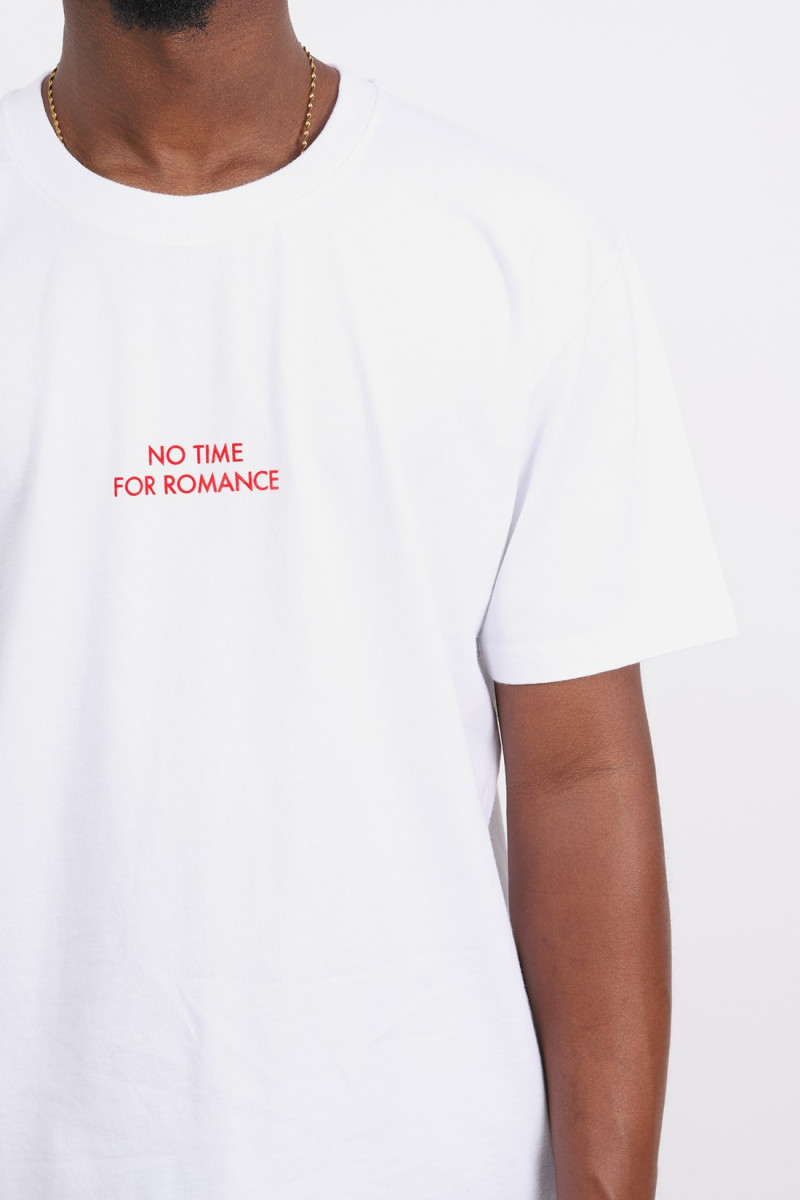 T shirt no time White red