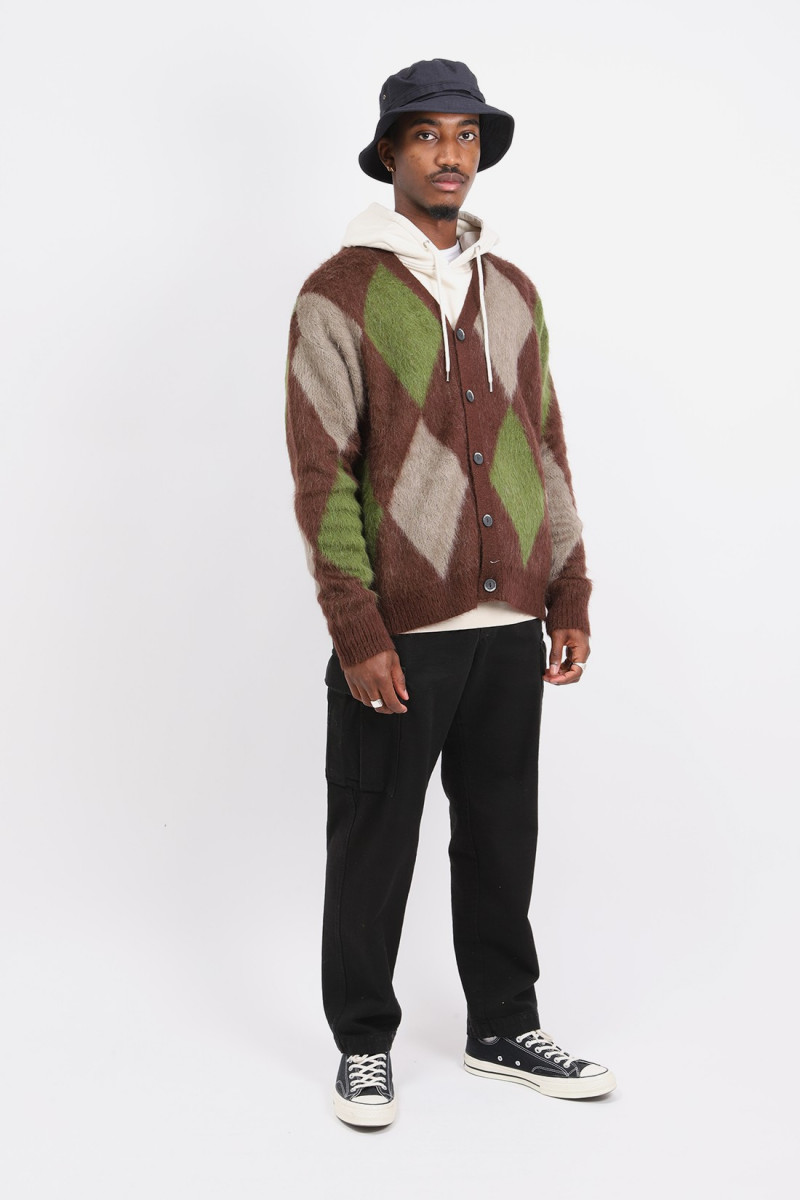 Cardigan over p's mohair Brown