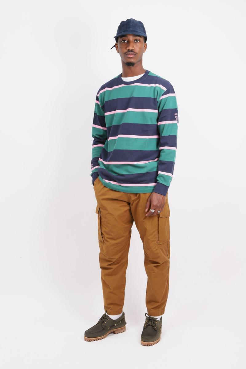 Longsleeve stay classy stripes Navy/green/pink