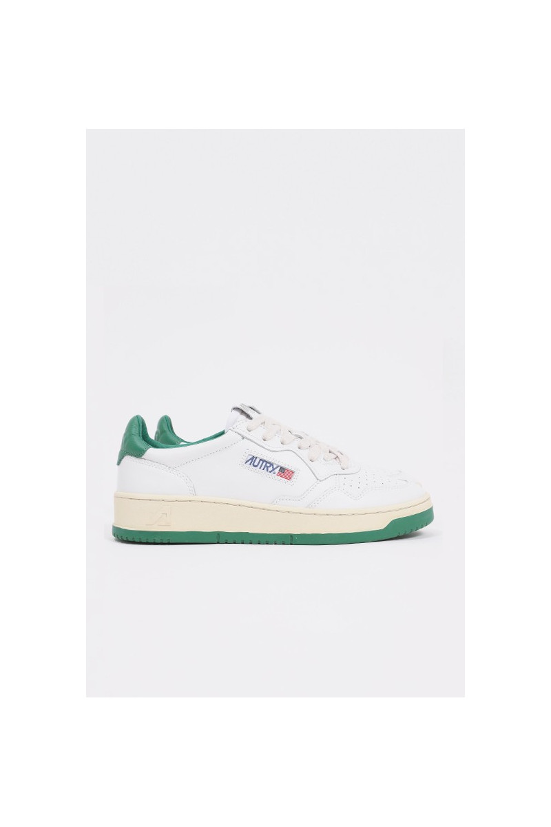 Autry bb45 Leat/leatwht/green