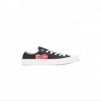 RESTOCK ALERTThe Converse x CdG Play partnership is back in stock. Each pair is embellished at the ankle with a custom CdG brand heart designed by New York artist Filip Pagowski, and retains the classic 70s rubber sole.Enjoy !
